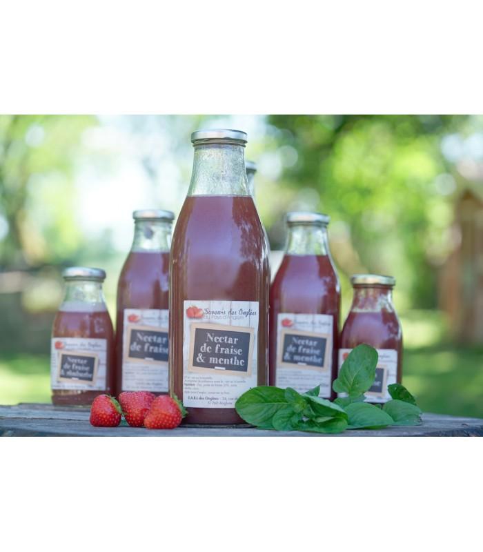 Nectar de fraise menthe