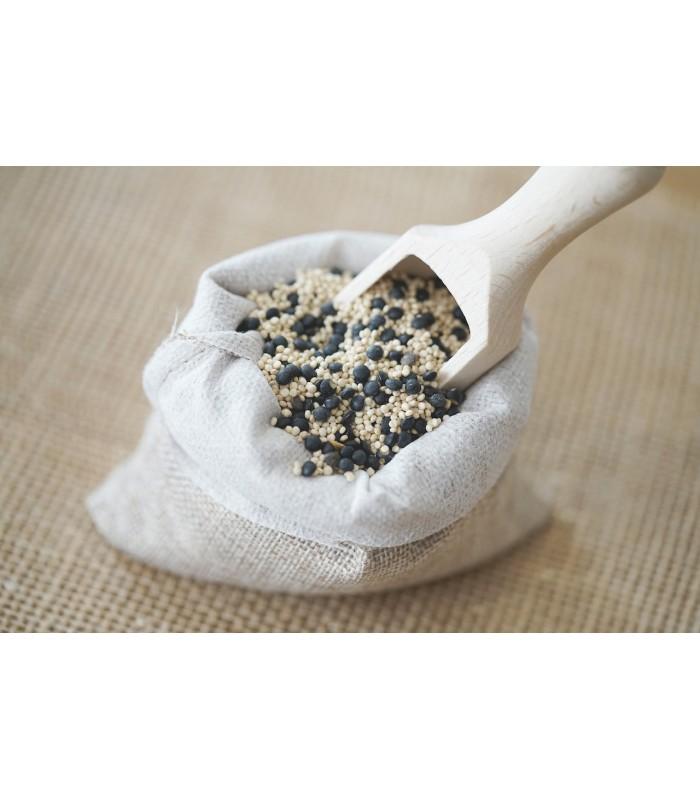Quinoa et lentille beluga en mélange