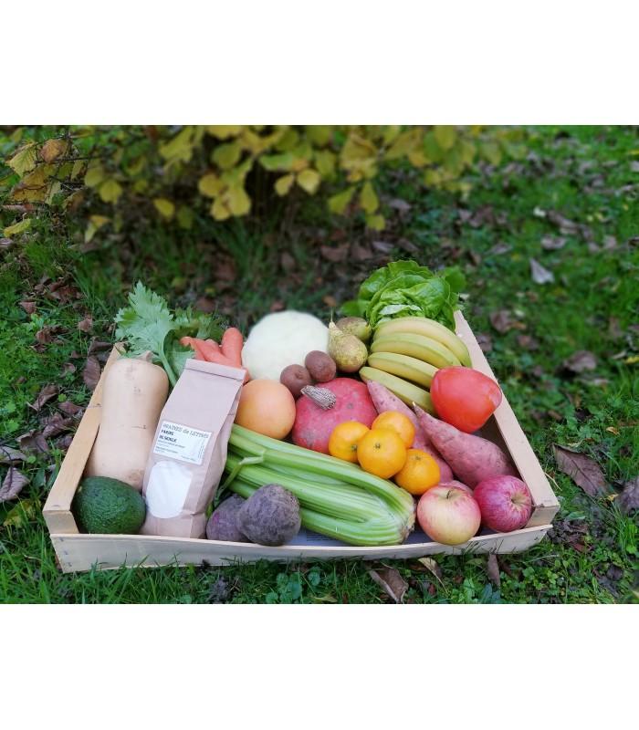 Assortiment de fruits et légumes Le découverte